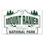 Mt Ranier NP Sticker (Rectangle 10 pk)