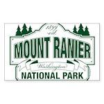 Mt Ranier NP Sticker (Rectangle 50 pk)
