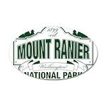 Mt Ranier NP 20x12 Oval Wall Decal