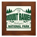 Mt Ranier NP Framed Tile