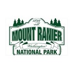 Mt Ranier NP 35x21 Wall Decal