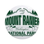 Mt Ranier NP Ornament (Round)