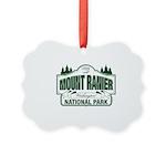 Mt Ranier NP Picture Ornament