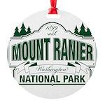 Mt Ranier NP Round Ornament