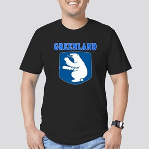 Greenland Coat Of Arms Designs Men's Fitted T-Shir