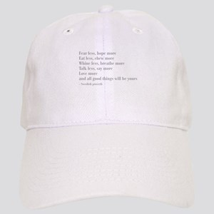 swedish-proverb-bod-gray Baseball Cap