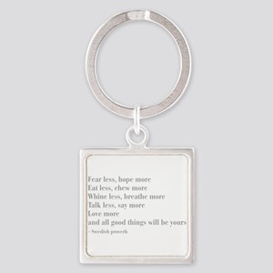 swedish-proverb-bod-gray Keychains