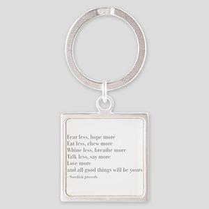swedish-proverb-bod-gray Keychains