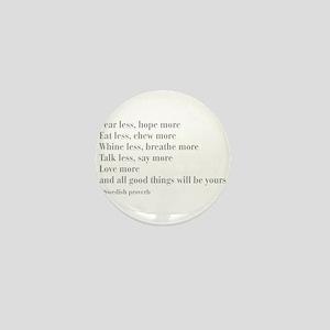 swedish-proverb-bod-gray Mini Button