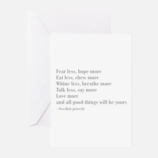 swedish-proverb-bod-gray Greeting Cards (Pk of 20)