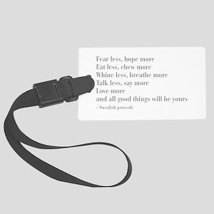 swedish-proverb-bod-gray Luggage Tag