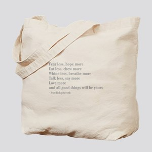 swedish-proverb-bod-gray Tote Bag