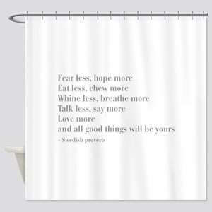 swedish-proverb-bod-gray Shower Curtain