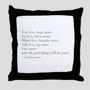 swedish-proverb-bod-gray Throw Pillow
