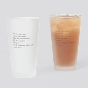 swedish-proverb-bod-gray Drinking Glass