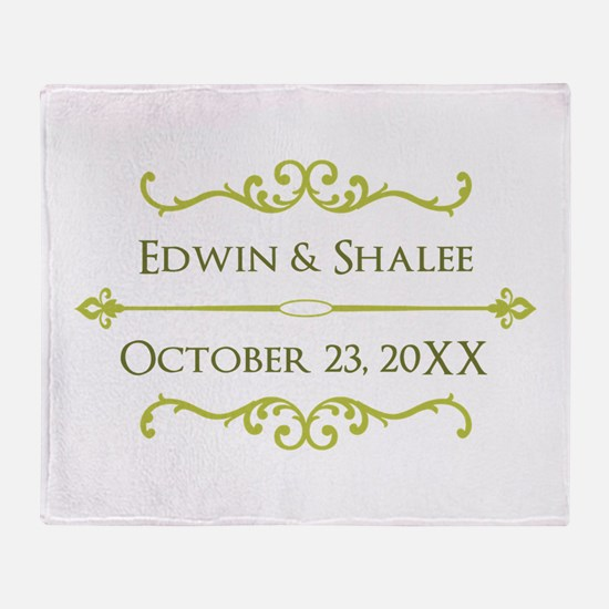 Personalized Anniversary Gift Throw Blanket
