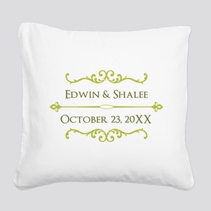 Personalized Anniversary Gift Square Canvas Pillow