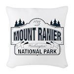 Mt Ranier NP Woven Throw Pillow