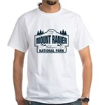 Mt Ranier NP White T-Shirt