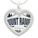 Mt Ranier NP Silver Heart Necklace