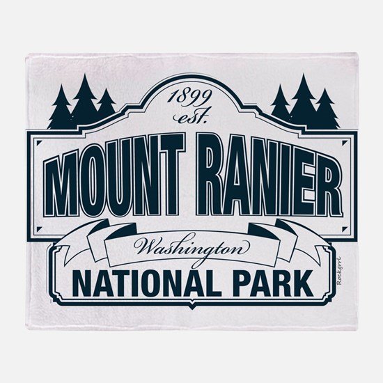 Mt Ranier NP Throw Blanket