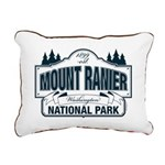 Mt Ranier NP Rectangular Canvas Pillow