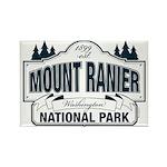 Mt Ranier NP Rectangle Magnet (100 pack)