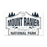 Mt Ranier NP Rectangle Car Magnet