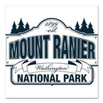 "Mt Ranier NP Square Car Magnet 3"" x 3"""