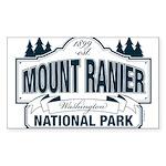 Mt Ranier NP Sticker (Rectangle)