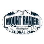 Mt Ranier NP Sticker (Oval 10 pk)
