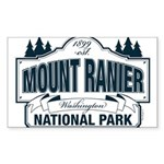 Mt Ranier NP Sticker (Rectangle 10 pk)