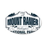 Mt Ranier NP 35x21 Oval Wall Decal