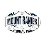 Mt Ranier NP 35x21 Oval Wall Decal