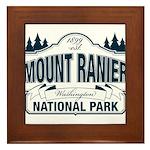 Mt Ranier NP Framed Tile