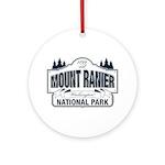 Mt Ranier NP Ornament (Round)