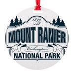 Mt Ranier NP Round Ornament