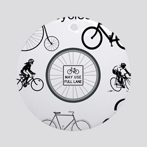 Bicycles May Use Full Lane Ornament (Round)
