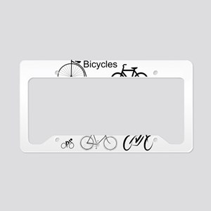 Bicycles May Use Full Lane License Plate Holder