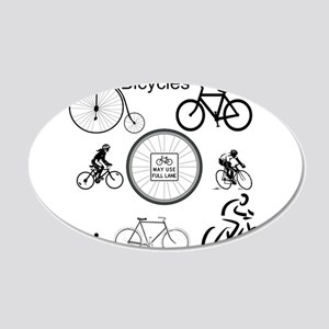 Bicycles May Use Full Lane Wall Decal