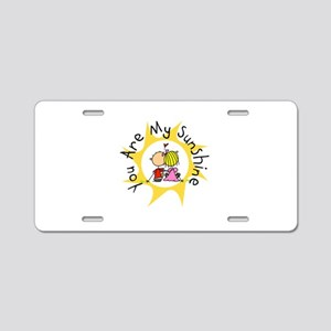 In Love You Are My Sunshine Aluminum License Plate
