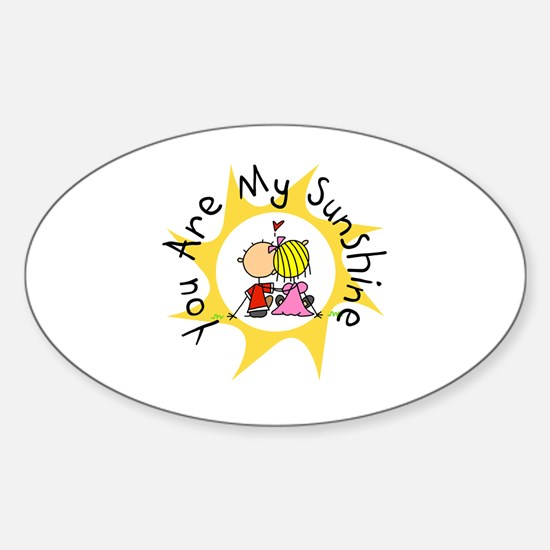 In Love You Are My Sunshine Sticker (Oval)