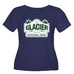 Glacier National Park Women's Plus Size Scoop Neck