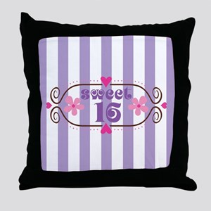 Sweet 16 Sixteen Birthday Throw Pillow