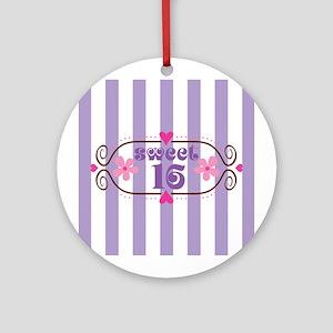 Sweet 16 Sixteen Birthday Ornament (Round)