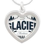Glacier National Park Silver Heart Necklace