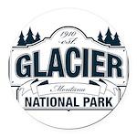 Glacier National Park Round Car Magnet