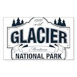 Glacier National Park Sticker (Rectangle 10 pk)