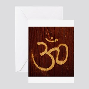 OM Carving Greeting Card