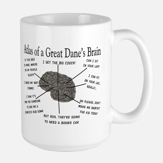 Atlas of a great danes brain Mug